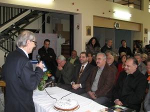Ο Αντιπρόεδρος του Συλλόγου κος Γιώργος Μαντίκος κατά την ομιλία του στους παρευρισκόμενους.