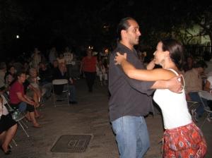 Επίδειξη χορού latin από τον καθηγητή κ.Λευτέρη Κριτσωτάκη και την κ.Ελεάνα Παπαχρήστου